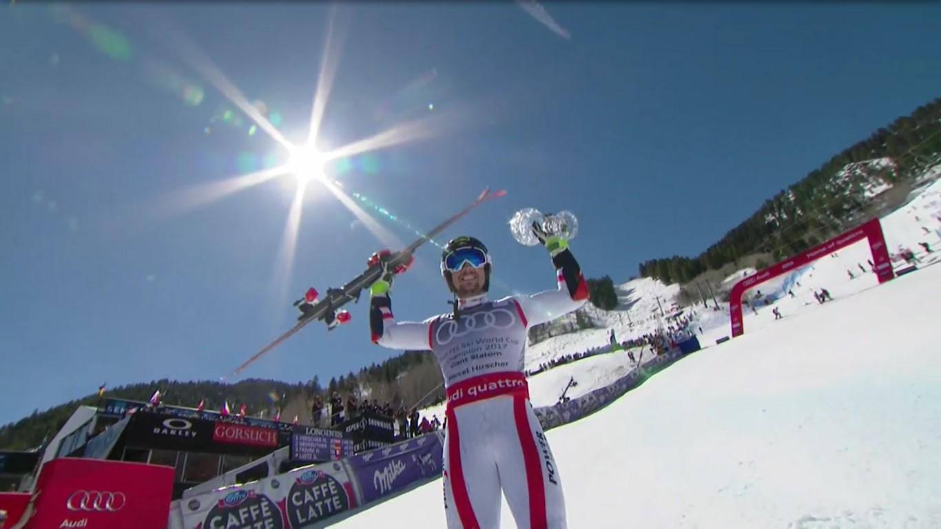 Marcel Hirscher exhibe su sexto Gran Globo consecutivo después de haberse impuesto en el gigante de Aspen FOTO: Eurosport