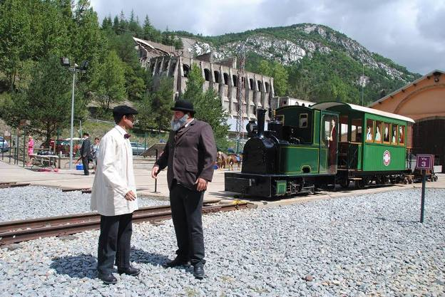 El Grup FGC también ha iniciado las vistas teatralizadas durante el recorrido del tren del Ciment