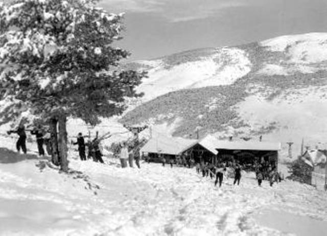 La Molina en sus inicios después de una gran nevada