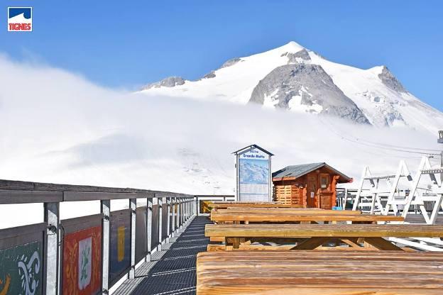 Tignes, en los Alpes franceses, ofrecía este aspecto a principios de semana