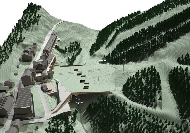 Maqueta de la nueva pasarela en Soldeu