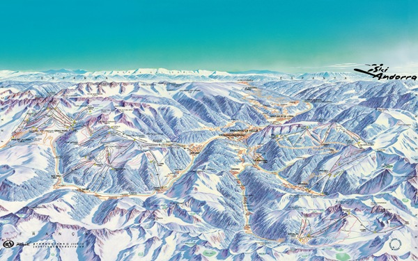 El forfait global da acceso a un gran dominio esquiable