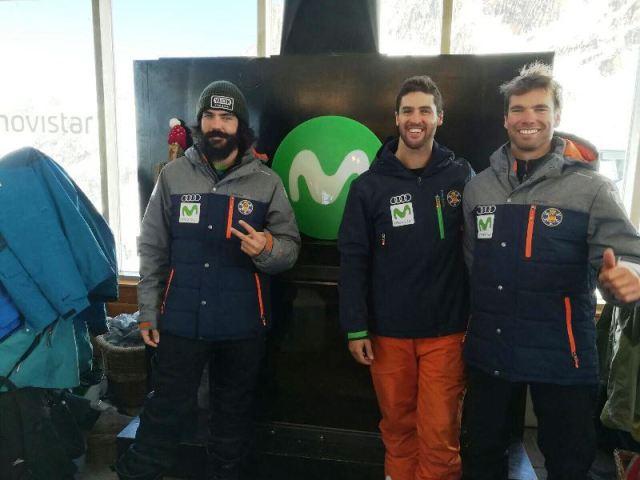 El equipo de SBX, a punto de competir en Cerro Catedral