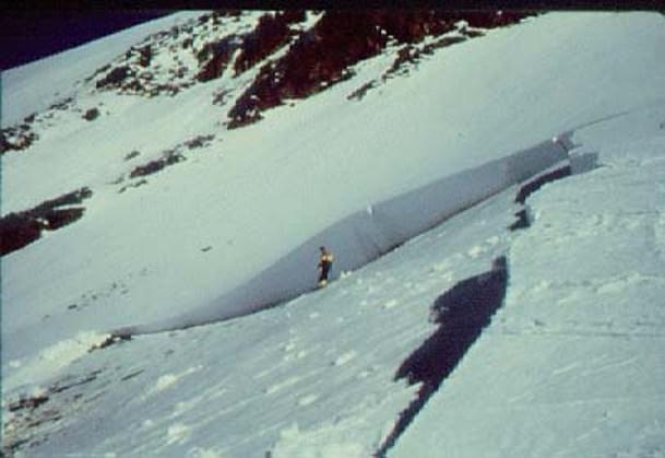 Caída de nieve por placa