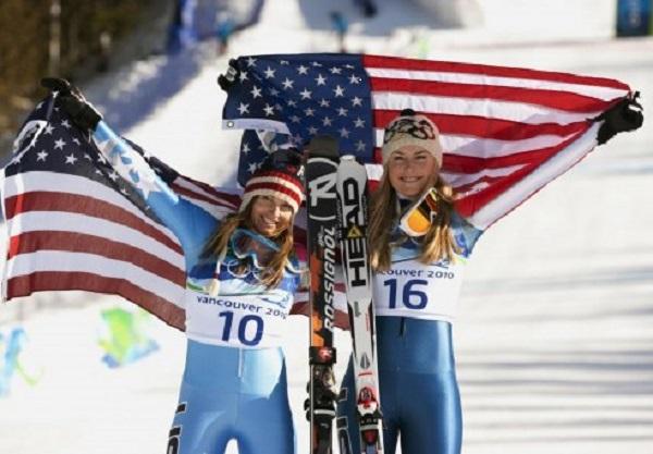 En la foto, junto a Julia Mancuso, para quien los Juegos de febrero también serán los últimos