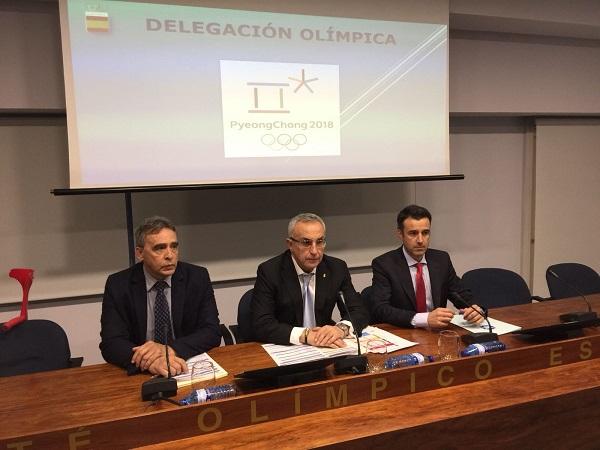 Alejandro Blanco y May Peus han anunciado en Madrid la composición del equipo RFEDI que representará a España en los Juegos de Pyeongchang FOTO: RFEDI - Spainsnow
