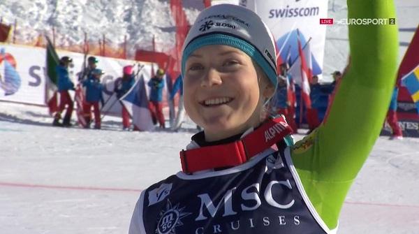 Primer podio de la Copa del Mundo para la prometedora eslovena de 19 años Meta Hrovat