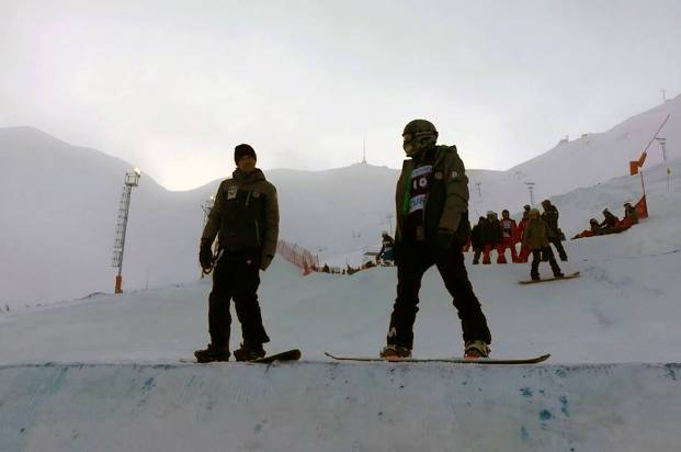 La suerte no ha acompañado hoy a Hernández y Eguibar en el SBX de Erzurum