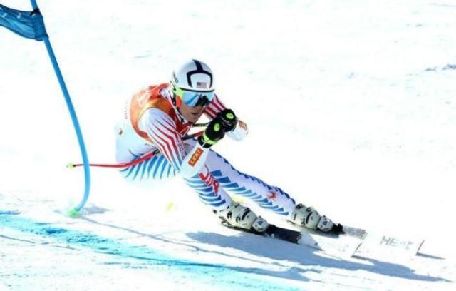 Lyndsey durante los entrenamientos en PyeongChang