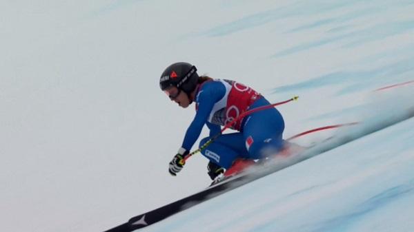 Por sólo dos centésimas Sofia Goggia no ha subido a lo más alto del podio. Pese a ello, sigue liderando la general de descenso