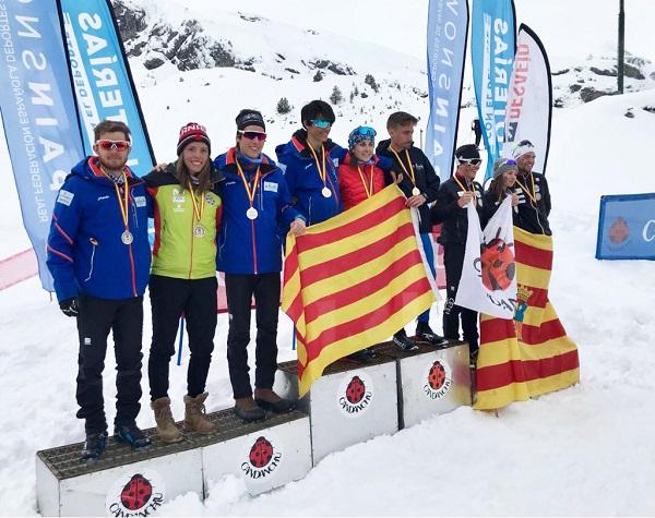 Los equipos de la FCEH han vencido hoy en todas las categorías de la prueba por relevos FOTO: RFEDI-Spainsnow