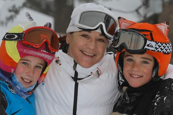 Blanca con sus hijos Olivia y David.