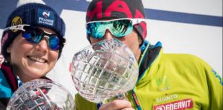 Axelle Mollaret y Michele Boscacci, ganadores de la Copa del Mundo. ISMF Skimo