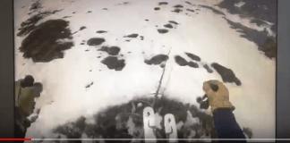 El esquiador se da cuenta tarde que accede a una zona sin nieve y peligrosa
