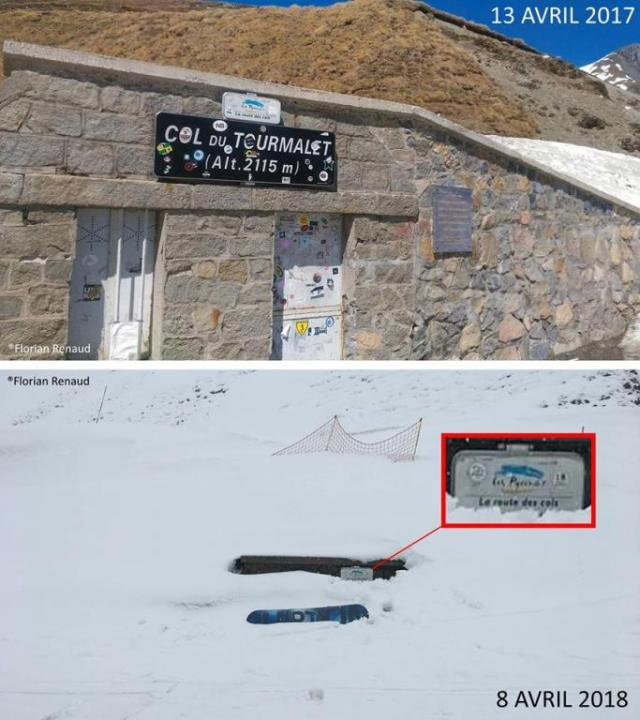 Asií está el Col du Tourmalet, a diferencia del año pasado en las mismas fechas