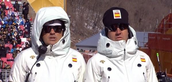 Olmo Hernán, junto a May Peus, en los Juegos de Pyeongchang