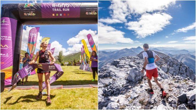 Silvie Trigueros y Roberto Heras en la 1a etapa del Riaño Trail