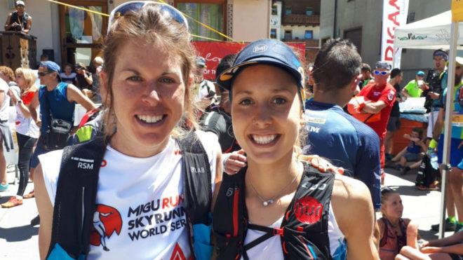 Laura Orgué y Sheila Avilés, en la salida