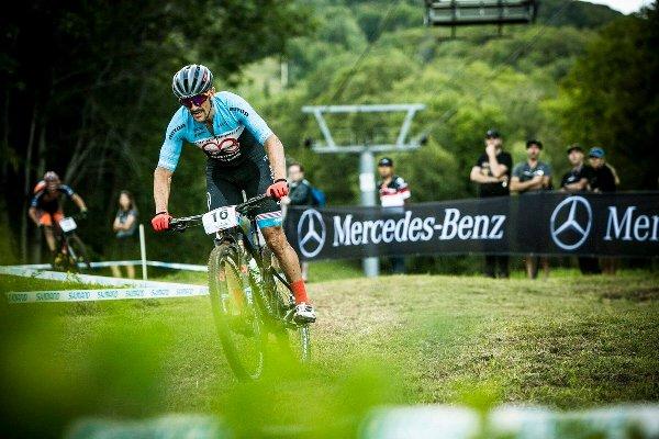 Carlos Coloma durante la carrera de La Bresse (Francia)