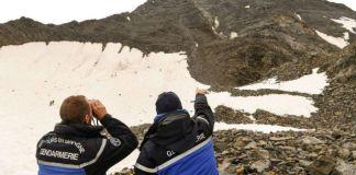 La Gendarmería de Alta Montaña de Chamonix durante la búsqueda