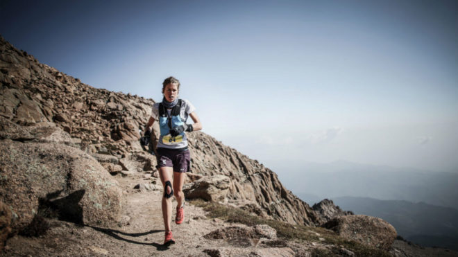 Laura Orgué, durante la carrera. Philip Reitter