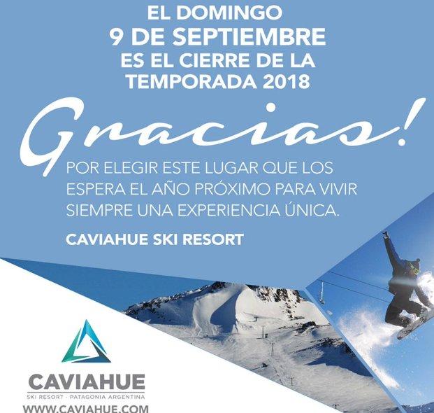 Así clausuraban las pistas chilenas de Caviahue