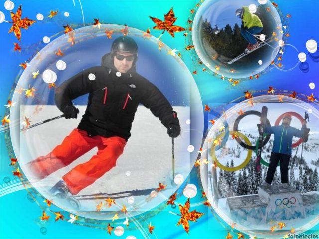 Sonia, Albert y Marc, administradores de la red social con casi 15 mil usuarios, son unos apasionados al esquí
