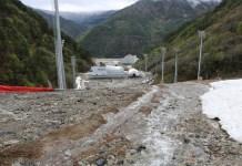 Ha llegado el deshielo en las pistas recién construidas de Pyeongchang y los expertos ya predicen deslizamientos de tierras FOTO: http://english.hani.co.kr