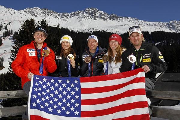Con Ligety, Mancuso, Miller y Weibrecht, los cinco medallistas USA en Sochi. FOTO: usskiandsnowboard.org
