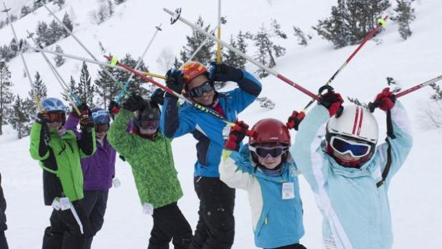 Clases de esquí infantiles