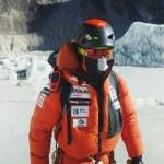 El alpinista vizcaíno durante una expedición