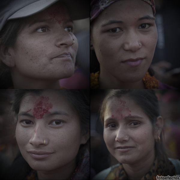 Las cuatro chicas nepalíes que acompañaron a Pasabán en la subida solidaria al monte Saipal