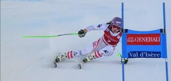 Anna Veith, ganadora del último super G disputado en Val d'Isère