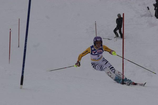La victoria en el slalom fue para Maria Riesch