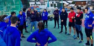 Compartir entrenamientos con los equipos de la RFEDI, uno de los atractivos de las becas. FOTO: RFEDI-Spainsnow