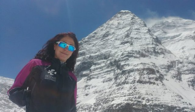 La alpinista andaluza en su andadura al Dahulagiri