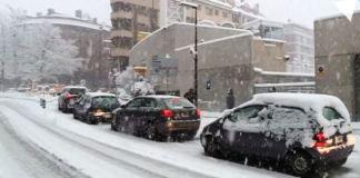 Las nevadas han propiciado el uso de cadenas en muchas zonas