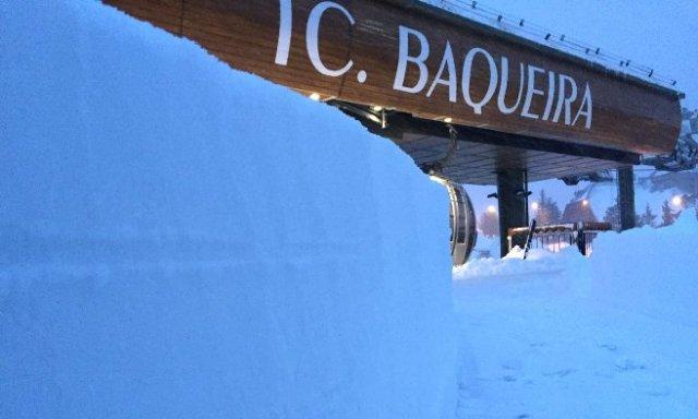 Las cotas altas de Baqueira también han acumulado un metro de nieve