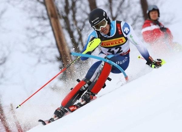 Juan del Campo ha finalizado 27º y es el sexto esquiador español que logra acabar un slalom del Mundial.