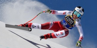Stephanie Venier ha sido la más rápida en el segundo entrenamiento del descenso en El Tarter. FOTO: Alain Grosclaude Agence Zoom