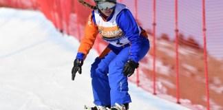 Astrid Fina durante la competición
