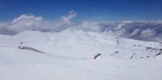 Así luce la estación tras la última nevada