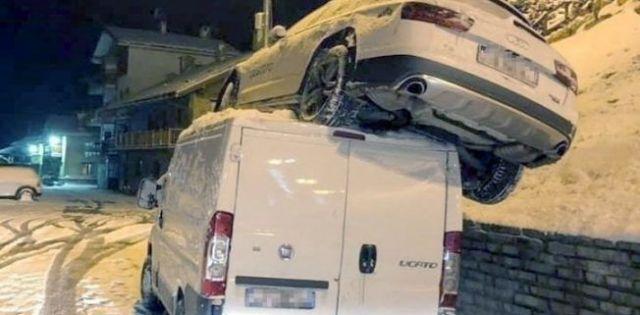 Así quedó el coche de la campeona olímpica