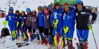 El equipo nacional masculino y femenino en la estación granadina