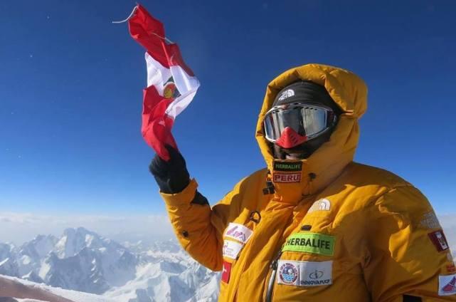 Una imagen del alpinista