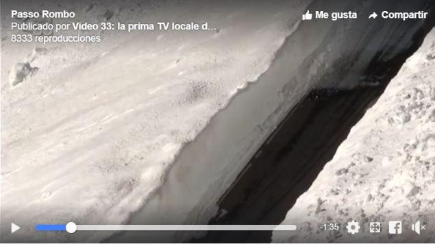El Passo Rombo ha sido el que más nieve acumula con hasta 21 m