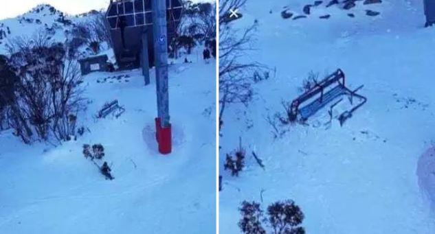 El esquiador cayó de una altura de unos 10 metros, al desprenderse un telesilla