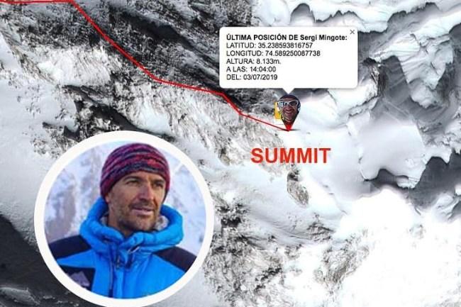 Mingote intentará las cimas Gasherbrum I (8.080 m) y II (8.035 m) para finalizar su proyecto 3x2x8000