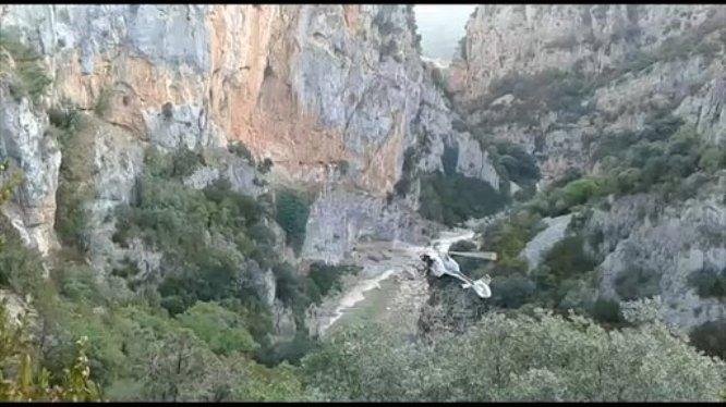 La Guardia Civil acudión en helicóptero a la Peonera