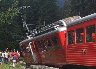 Estado en que quedó el vagón del tren siniestrado de camino a Chamonix